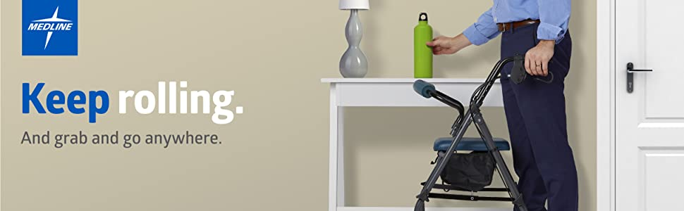 rollator rolling walker mobility aid senior