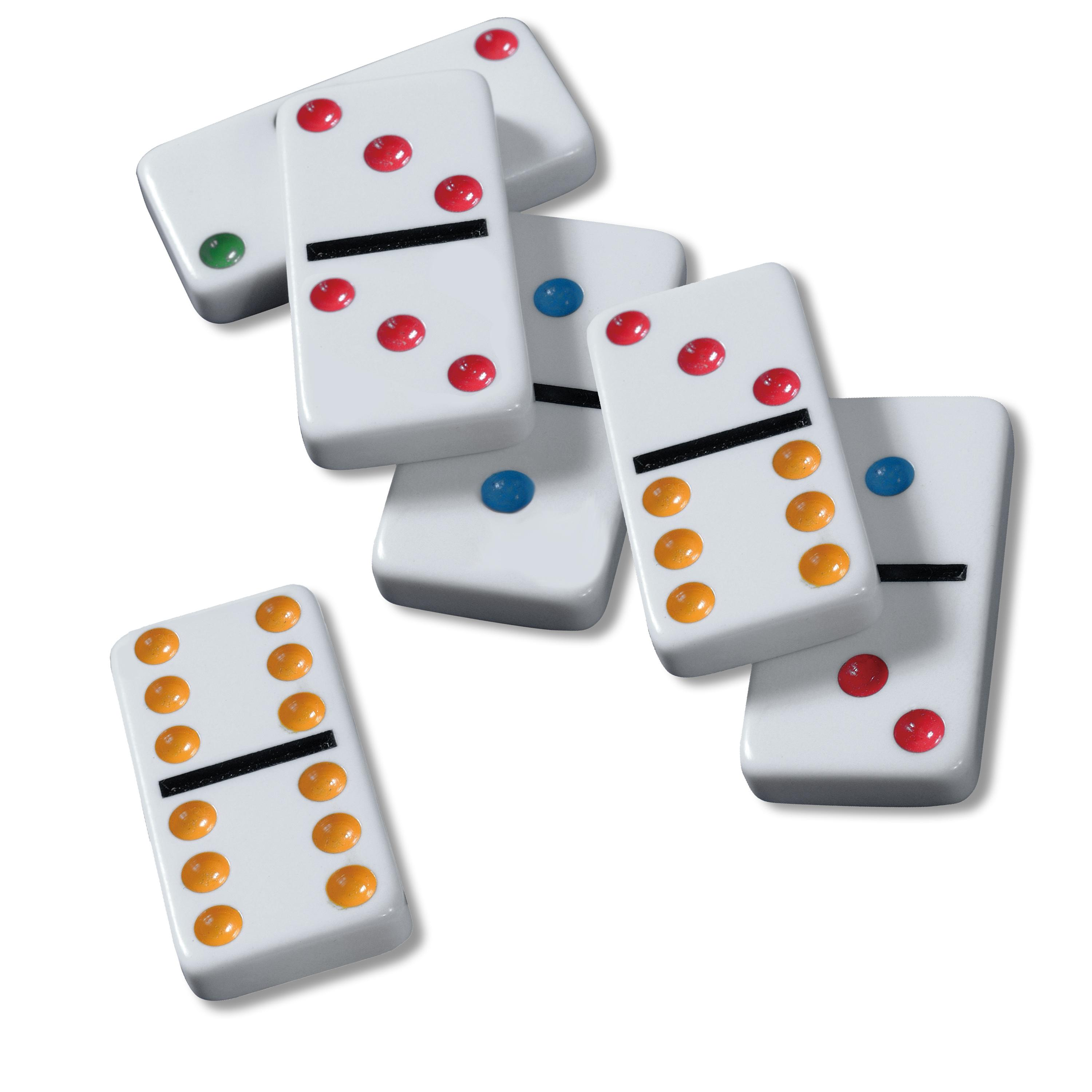 Amazon Cardinal Double 12 Color Dot Dominoes In Collectors Tin