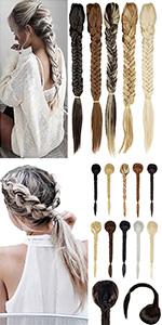 Claw Braiding Ponytail Hairpiece