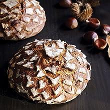 chestnut bread loaf sourdough bread baking bakery fermentation fermented grains heirloom