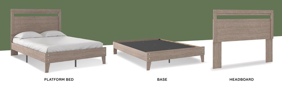 platform bed headboard footboard platforms rta ready to assemble furniture twin full queen king