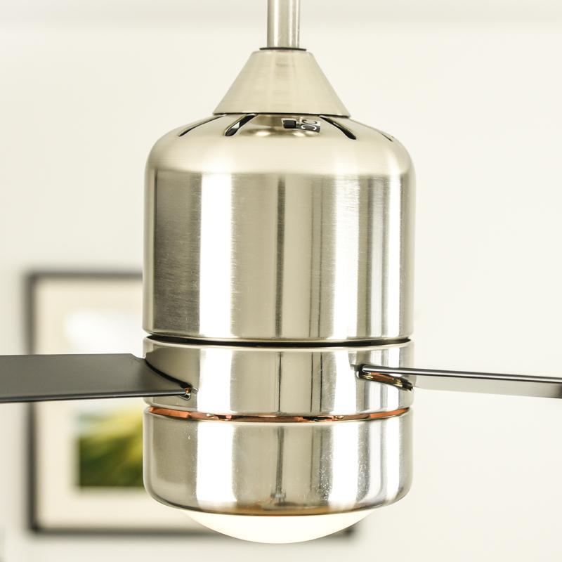 deckenventilator loft mit beleuchtung und fernbedienung geh use nickel satiniert fl gel. Black Bedroom Furniture Sets. Home Design Ideas