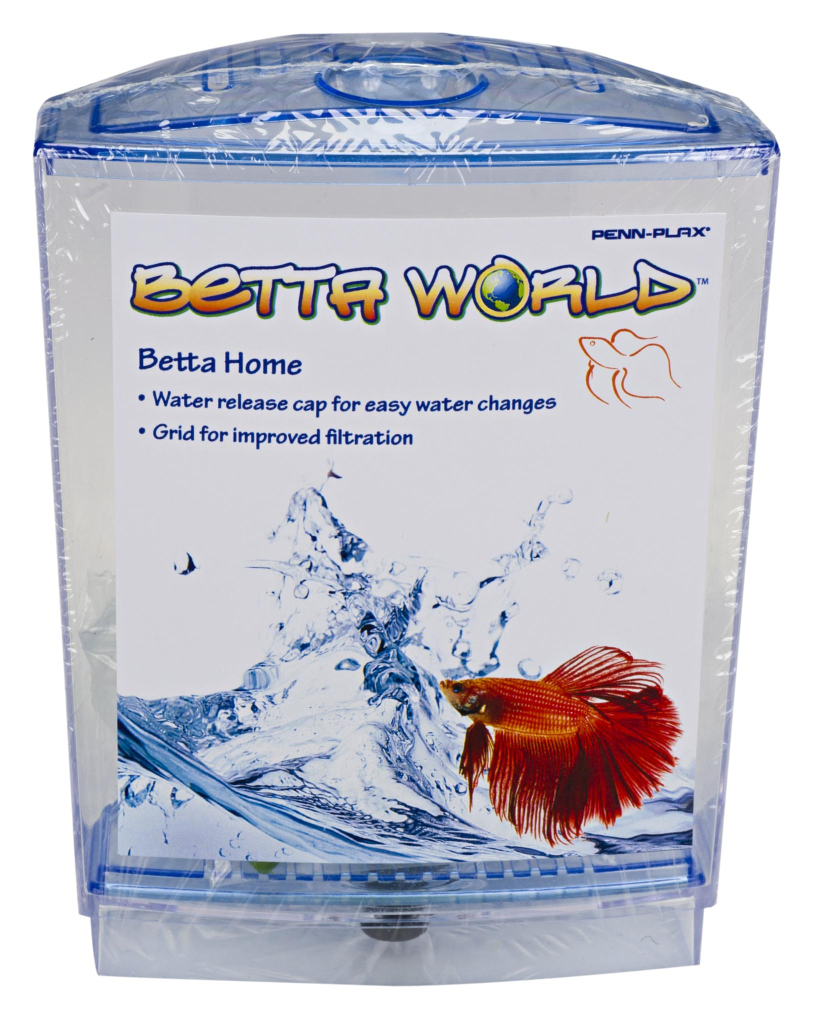 Penn plax betta aquarium tank kit pet supplies for Betta fish tanks amazon