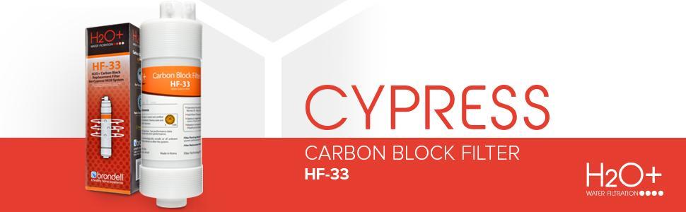HF-33 Cypress Carbon Block Water Filter Brondell H2O