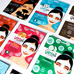 Yes to, sheet masks, face mask, coconut, cucumbers, cotton, grapefruit, natural beauty, mask