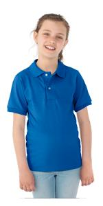 Youth, polo, boy's, girl's, stain resistant, uniform