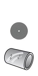 Dremel 26150425JA Disco de pulir 22,5 mm (425), 22.5mm, Set de 4 ...