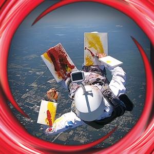 skydiving, painting, art
