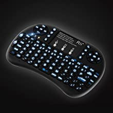 96fd4b5fcdc Amazon.com: (Upgraded)Rii 2.4GHz Mini Wireless Keyboard with ...