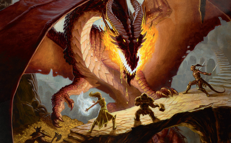 Red Dragon, Adventuring Party, D&D