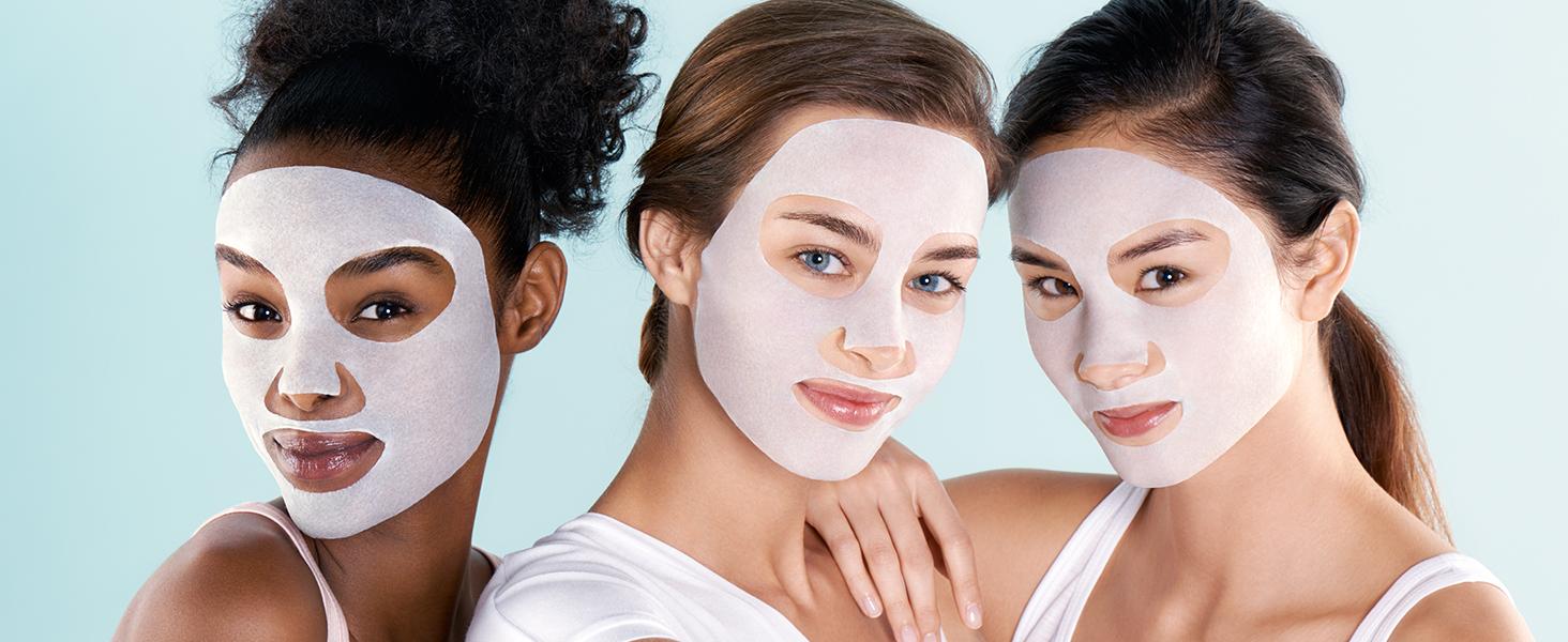 maschera in tessuto, maschere in tessuto, tissue mask, maschera coreana, garnier, hydrabomb, mask