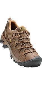 men's waterproof comfortable leather hiking shoe
