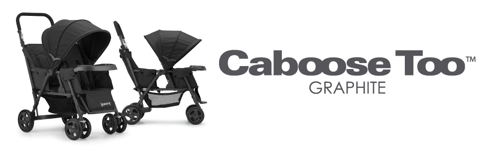 Amazon.com: JOOVY Caboose - Carrito tándem de grafito, color ...