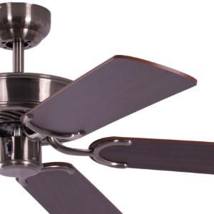 deckenventilator ohne beleuchtung potkuri geh use gealtertes silber wendefl gel walnuss oder. Black Bedroom Furniture Sets. Home Design Ideas