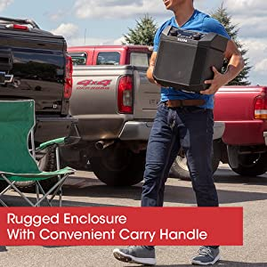 Tailgater Plus; 50W; Bluetooth; NFC; Easy-Pair; Rechargeable Battery; AM/FM Radio; Microphone