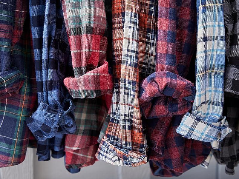 Flannel Long Sleeve Button-Down Shirt
