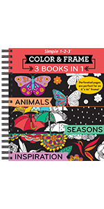 animals seasons inspirational coloring book for adults grown up senior teens