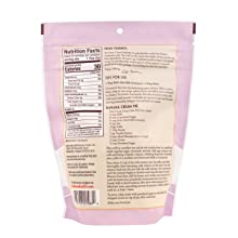 back side of corn starch including nutrition facts and information