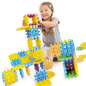 little tikes, waffle blocks, 100 waffle blocks, building blocks, construction for children, building
