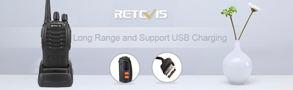 two way radio support USB charging