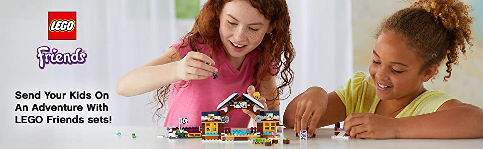 LEGO, building, Interactive play, Friends, Snow Resort , Olivia, Henry, Girls, Ice Rink