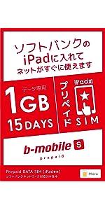 ソフトバンク iPad 1GB マイクロ
