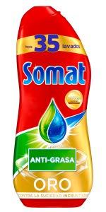 Somat Oro Gel Detergente Lavavajillas Vinagre - 100 Lavados (1.8 l ...