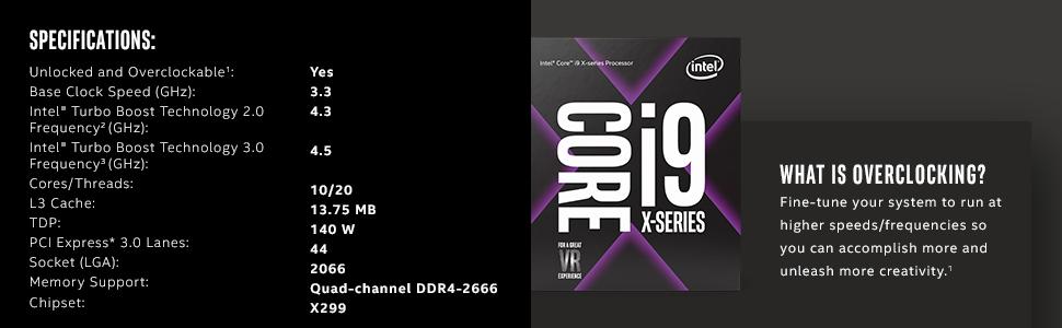 Intel Core i9-7900X X-Series Processor