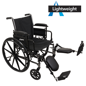 ProBasics Lightweight Wheelchair with Elevating Leg Rests