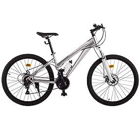 Ultrasport 331100000190 Bicicleta De Trekking, Cambio De Cadena, 21 Marchas, Niñas, Plata, 26 Pulgada: Amazon.es: Deportes y aire libre