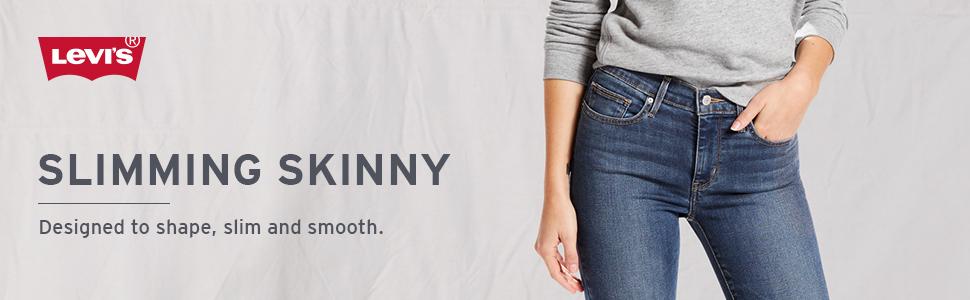 Levis Womens Slimming Skinny Jeans