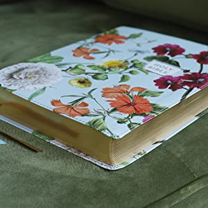 NIV, Artisan Collection Bible, Leathersoft, Blue Floral, Red Letter, Comfort Print
