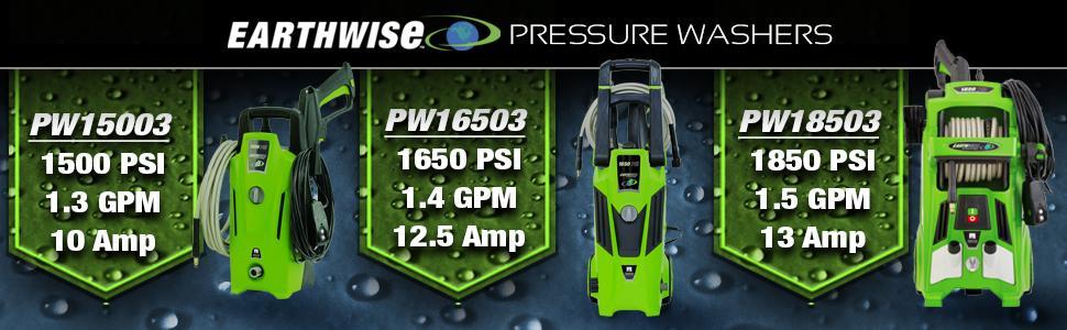 amazon com earthwise pw15003 1500 psi 1 3 gpm electric pressure rh amazon com Pressure Washer Pump Diagram Hydro Tek Pressure Washer Manual