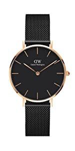 dw, daniel wellington, ashfield, petite ashfield, black mesh, rose gold black mesh watch