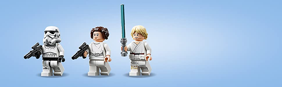 Inclut 4 personnages LEGO Star Wars