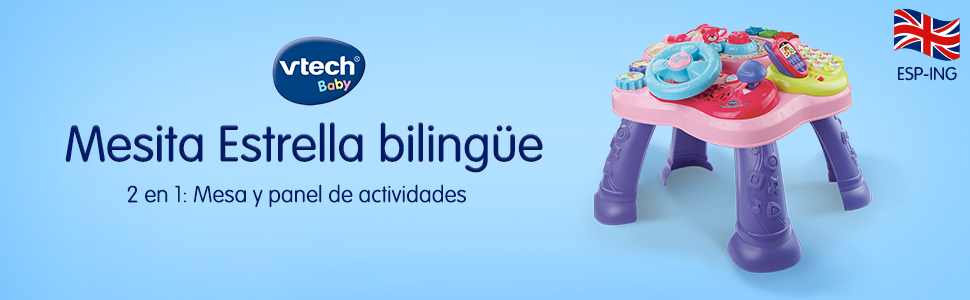 Vtech- Mesita Infantil Estrella Bilingüe, Color rosa (3480-181557 ...