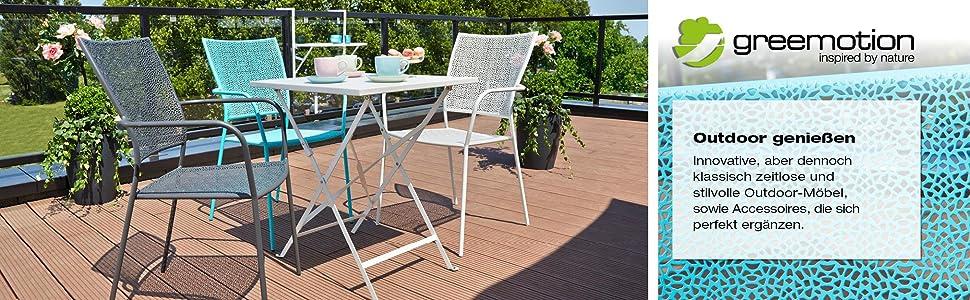 greemotion kunststoff gartentisch in blau esstisch oval f r 4 personen. Black Bedroom Furniture Sets. Home Design Ideas