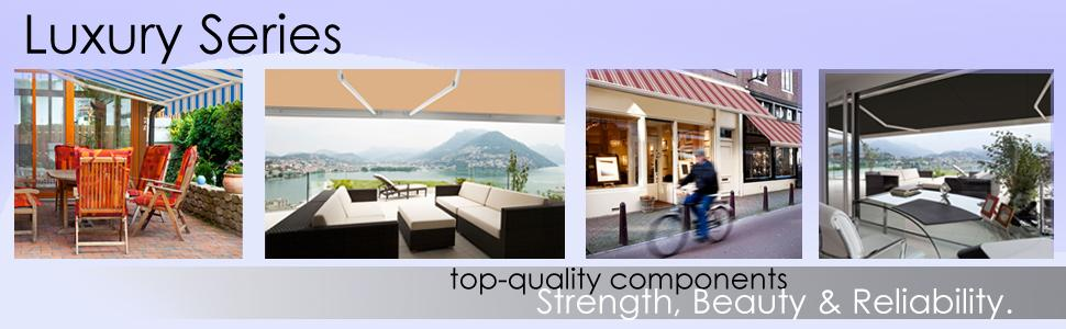 Advaning 8 X6 Manual Patio Retractable Awning Luxury
