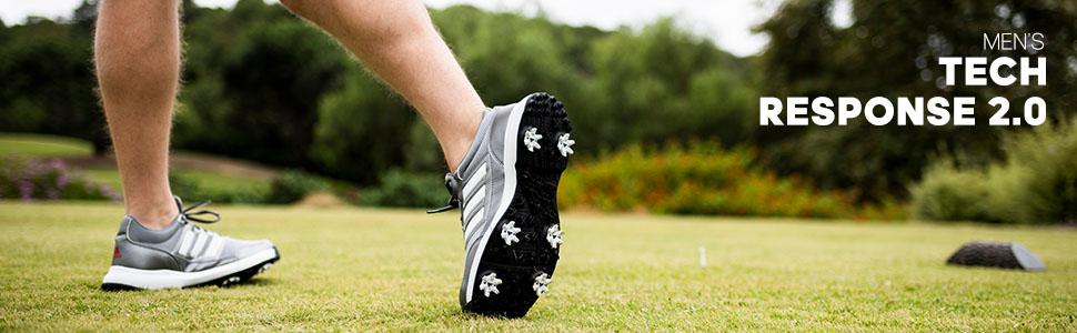 Amazon Com Adidas Men S Tech Response 4 0wd Golf Cleated Golf