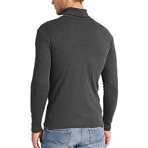 Lower East Camiseta con cuello alto Slim Fit para hombre, Pack de ...