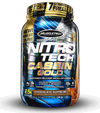 nitro-tech casein gold bottle