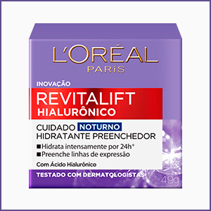 revitalift, hialuronico, poder do acido, acido hialuronico, novo revitalift, noturno