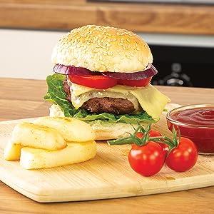Tasty BBQ Burgers Teppanyaki Style