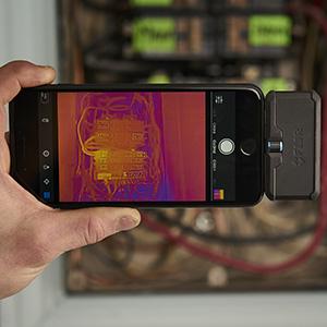 bir profesyonel flört, termal kamera, termal görüntüleme, akıllı telefon kamera