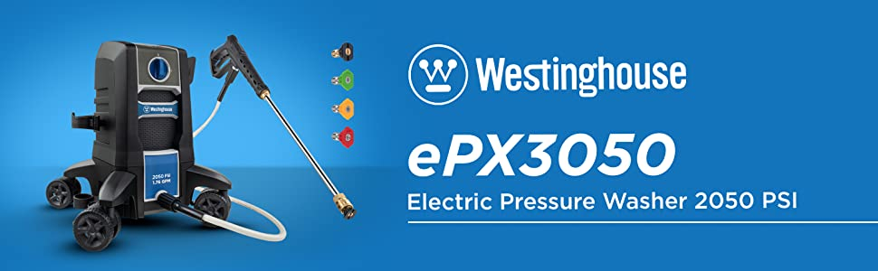 westinghouse electric pressure washer epx3050 2050 psi 1.8 gpm car power home outdoor quick connect