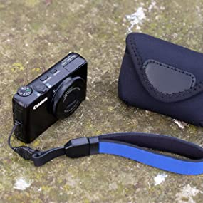 The Cam Strap QD is a comfortable hand / wrist strap for smaller compact cameras w/ 1 connection pt