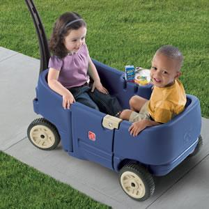wagon for two blue