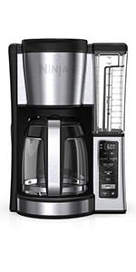 Ninja programmable brewer, coffee maker, coffee brewer, 12 cup coffee maker, glass carafe