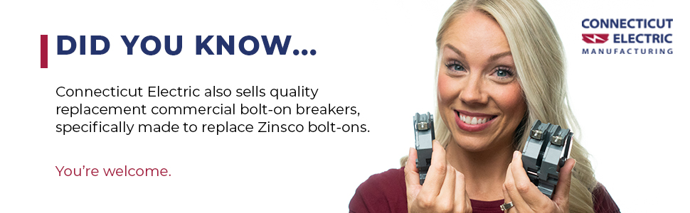 Connecticut Electric also sells quality replacement commercial bolt-on breakers