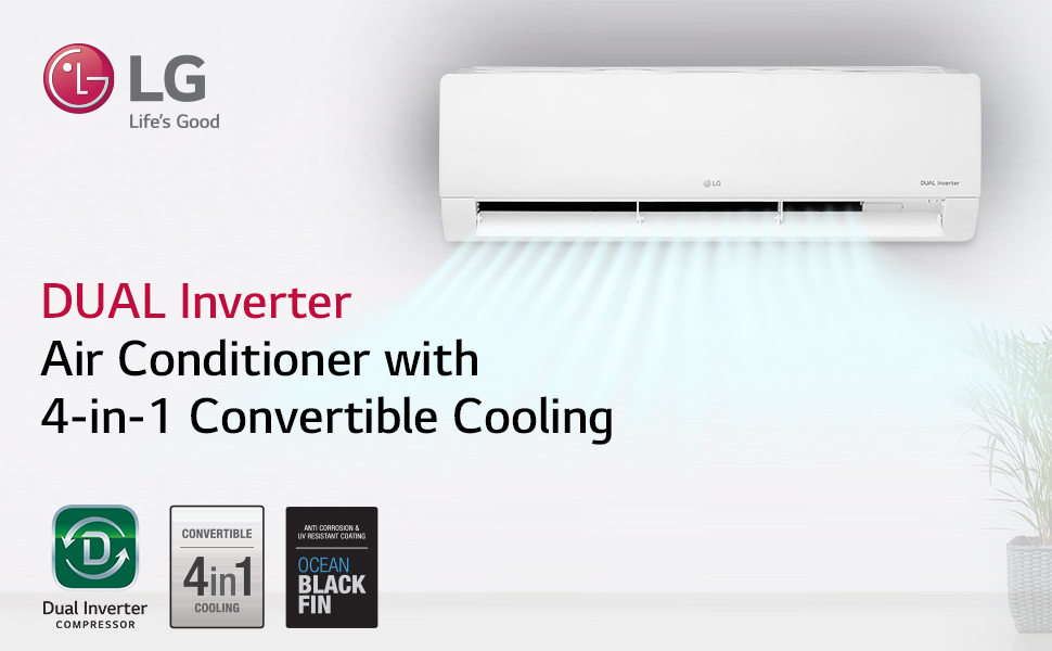 Dual Inverter with 4-in-1 Convertible Cooling AC